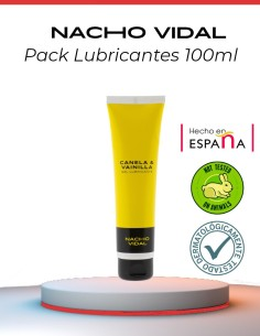 pack lubricantes naturales de sabores nacho vidal