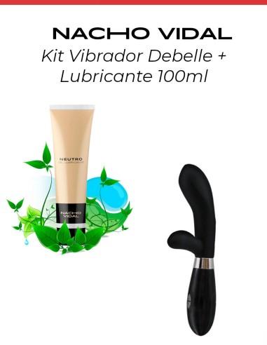 kit vibrador negro + lubricante neutro