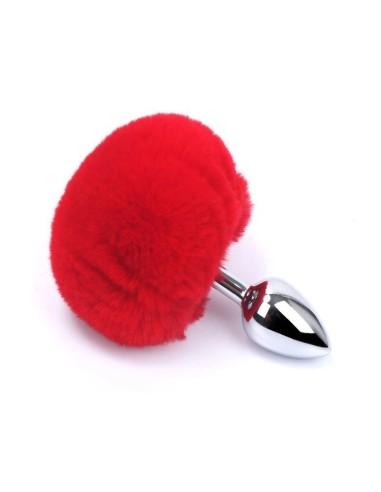 Plug anal conejito rojo