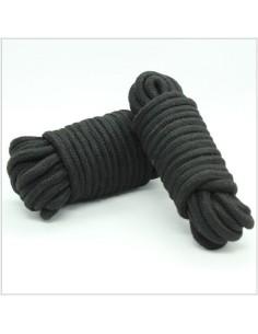 Black bondage rope.