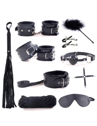 Set bondage negro 10 piezas