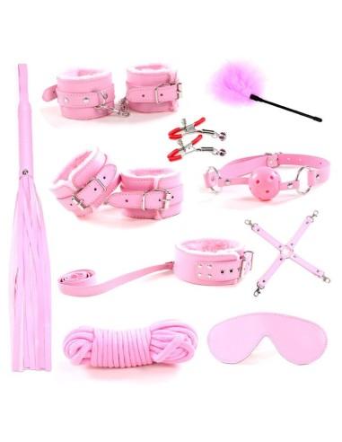 Set bondage rosa 10 piezas