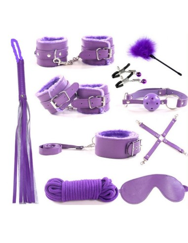 Set bondage magenta10 piezas