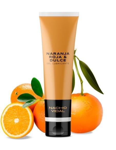 Gel lubricante íntimo  sabor Naranja Roja